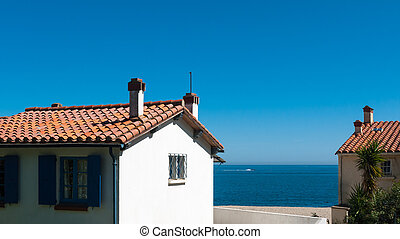 Seaside resort view - View of the typical Mediterranean...