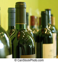Wine bottles - Some bottles of wine in a wine store