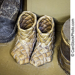 Russian peasants shoes