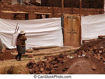 working woman in south america, peru