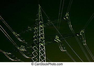 Stream-mast - stream mast at night with lights in the...