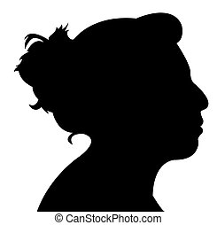 lady head silhouette vector