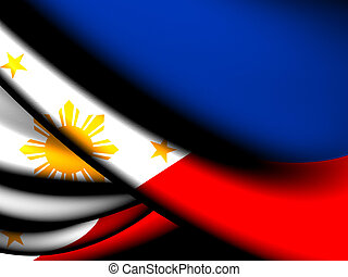 Flag of Philippines. Close Up.