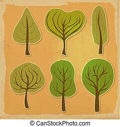 Set of six trees
