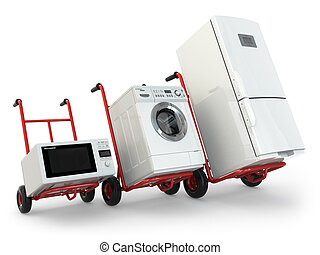 Appliance delivery Hand truck, fridge, washing machine and...