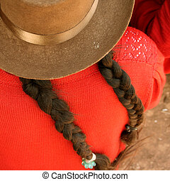 Woman with Hat, South America