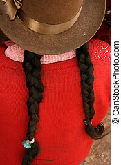 Woman with Hat, South America, Peru