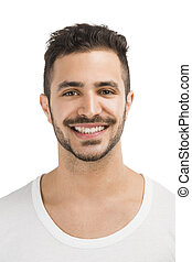 Smiling guy - Portrait of a handsome latin man smiling,...