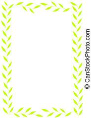 Green leaves frame.