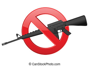 no M16 - No weapon sign on a white background.
