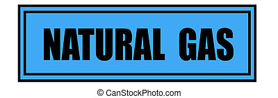 Natural Gas sign isolated