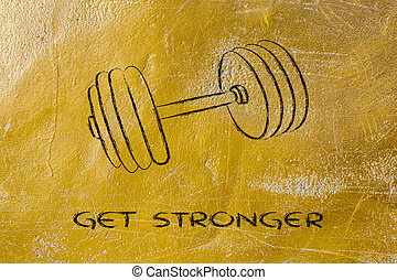 build your strength and power, set of weights - concept of...