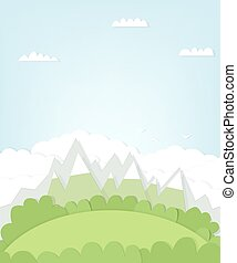 cutout mountain landscape