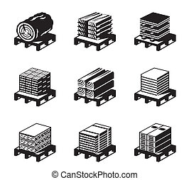 Building materials of wood - vector illustration
