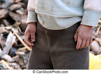 poor child - poor brother and sister in the andes of south...