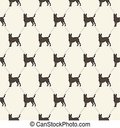 pattern with dogs. seamless texture.