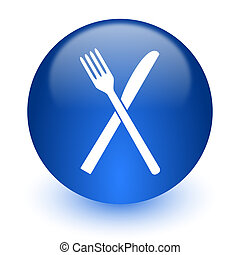 restaurant computer icon on white background - web icon on...
