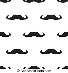 Tile vector mustache pattern - Seamless vector pattern, tile...