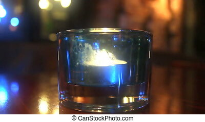 candile - candle glass in restaurant