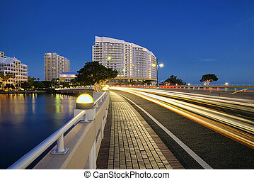 Miami Brickell Key - View of Brickell Key condos in downtown...