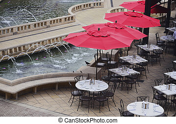 Sidewalk cafe - West Palm Beach, Florida, United States