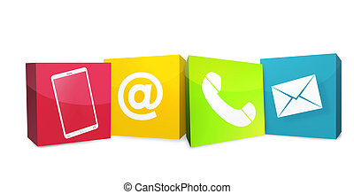 Creative Graphic Color Contact Us Icons - Contact Us Icons