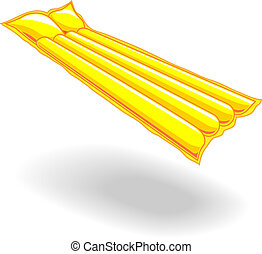 Floating mattress - Yellow Floating Mattress