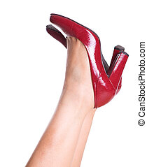 Woman Legs With Red Heels