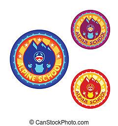 Alpine school sticker