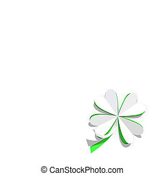Four Leaf Clover - Paper Cut Out Four Leaf Clover