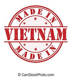 Made in Vietnam stamp - Made in Vietnam grunge rubber stamp...