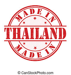 Made in Thailand stamp - Made in Thailand grunge rubber...