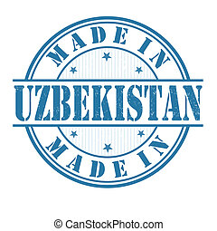 Made in Uzbekistan stamp - Made in Uzbekistan grunge rubber...