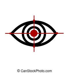 Eye logo 3 - Vector illustration : Eye logo sketch on a...