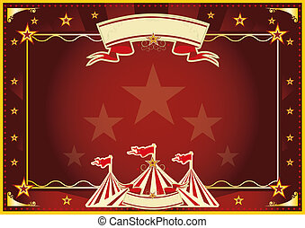Horizontal red magic circus - Horizontal circus background...