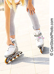 Problem with foot while roller blading - A picture of a...