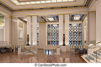 Art Deco lobby - An art deco lobby or entrance hall
