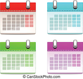 Color Calendars Set