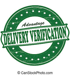 Delivery verification - Stamp with text delivery...