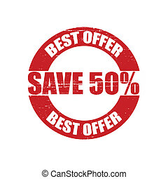 Best offer - Stamp with text best offer inside, vector...
