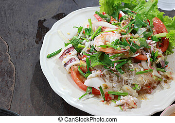 seafood marinated salad