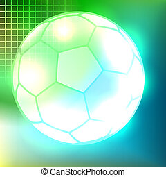 Abstract soccer ball background