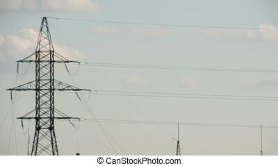 Long wires from a mobile tower