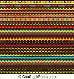 Ethnic ornament abstract geometric seamless fabric pattern.