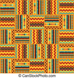 Ethnic ornament abstract geometric seamless fabric pattern