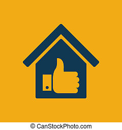 Real Estate Icon - Real Estate Flat Icon Vector