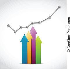 color arrow graph illustration design