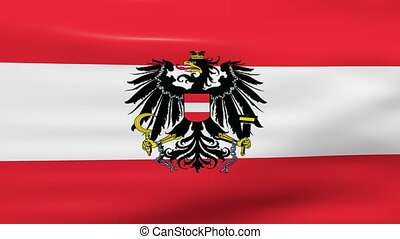 Waving Austria Flag, ready for seamless loop, ready for...