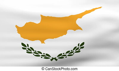 Waving Cyprus Flag, ready for seamless loop