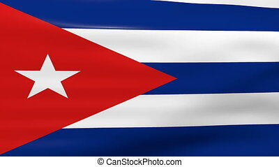 Waving Cuba Flag, ready for seamless loop